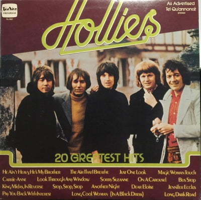 THE HOLLIES - 20 Greatest Hits