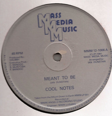 COOL NOTES - Meant To Be / Why Can't We Be Friends (Instrumental Version)