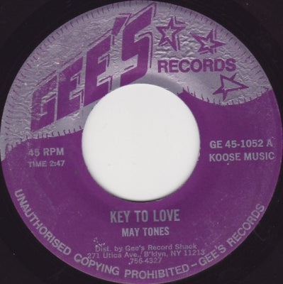 MAY TONES - Key To Love / I'm A Scientist