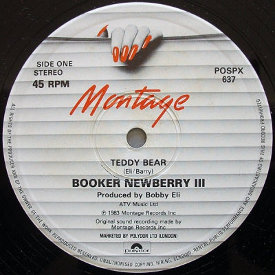 BOOKER NEWBERRY III  - Teddy Bear / Love Town (Froggy Mix)