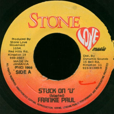 FRANKIE PAUL / RAZOR - Stuck On 'U' / Why