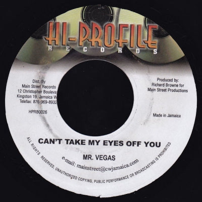MR. VEGAS - Can't Take My Eyes Off You