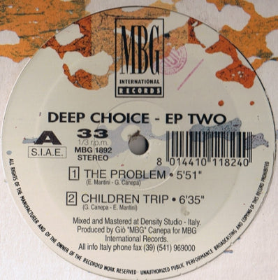 DEEP CHOICE - EP Two