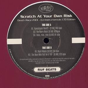 JEEP BEAT COLLECTIVE - Scratch At Your Own Risk - Death Race 2001 - DJ Instrumentals (Ltd Edition)