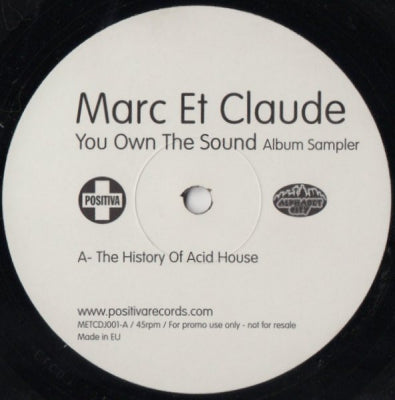 MARC ET CLAUDE FEATURING MARIA NAYLOR - You Own The Sound Album Sampler