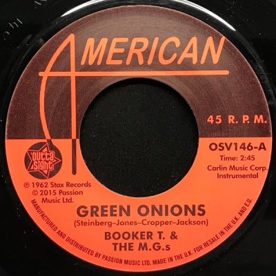 BOOKER T & THE MG'S / THE MARKETTS - Green Onions / Balboa Blue