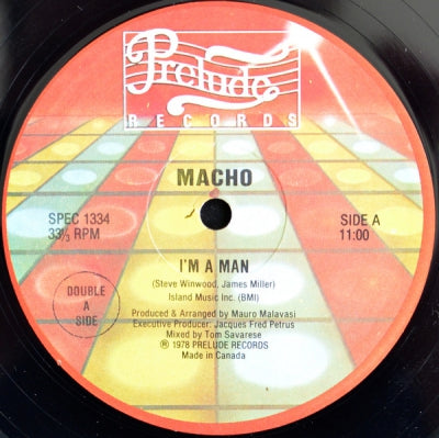 MACHO / PETER JACQUES BAND - I'm A Man / Walking On Music / Fire Night Dance
