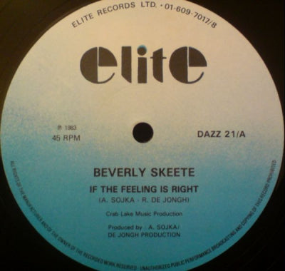BEVERLY SKEETE - If The Feeling Is Right