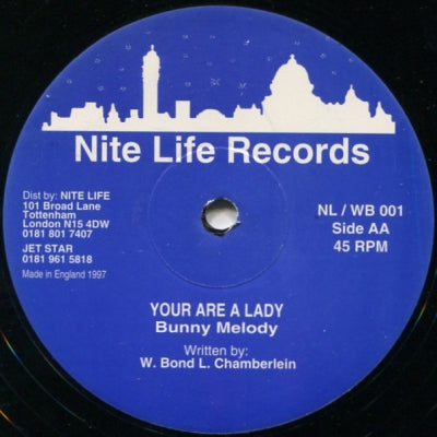BUNNY MELODY - Your Are A Lady / Never Love This Way Again