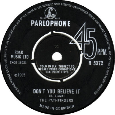 THE PATHFINDERS - Don't You Believe It / Castle Of Love