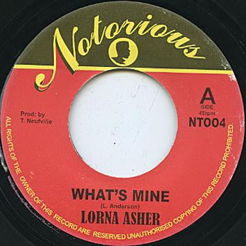 LORNA ASHER - What's Mine