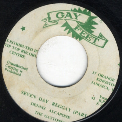 DENNIS ALCAPONE WITH THE GAYTONES - Seven Day Reggay Parts 1 & 2