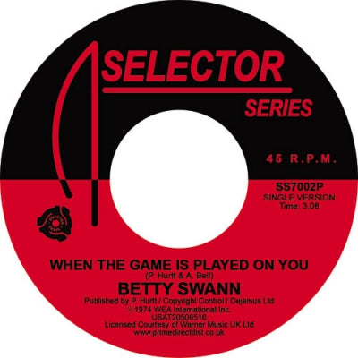BETTYE SWANN - When The Game Is Played On You