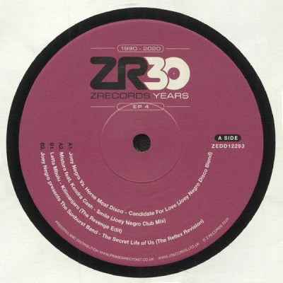 JOEY NEGRO VS HORSE MEAT DISCO / MISTURA / LETTA MBULU / JOEY NEGRO & THE SUNBURST BAND - Dave Lee presents 30 Years of Z Records – EP 4