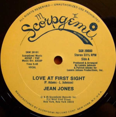 JEAN JONES - Love At First Sight