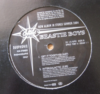 BEASTIE BOYS - The Hiatus Is Back Off, Again - Brass Monkey / Paul Revere / Intergalactic / Get It Together