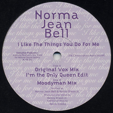 NORMA JEAN BELL - I Like The Things You Do For Me