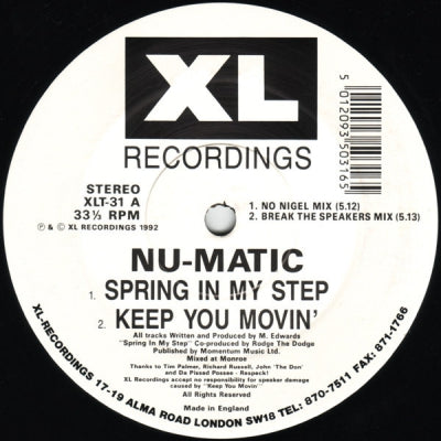 NU-MATIC - Spring In My Step
