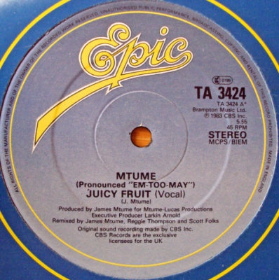 MTUME - Juicy Fruit / Prime Time / You, Me & He