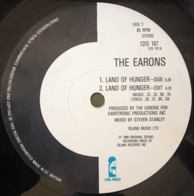 THE EARONS - Land Of Hunger