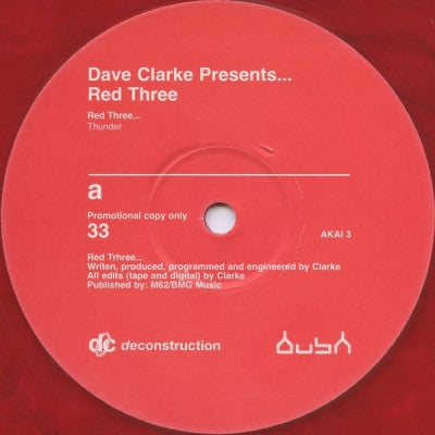 DAVE CLARKE - Red 3 - Thunder / The Storm