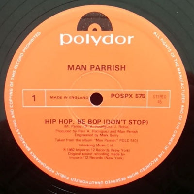 MAN PARRISH - Hip Hop Be Bop (Don't Stop)