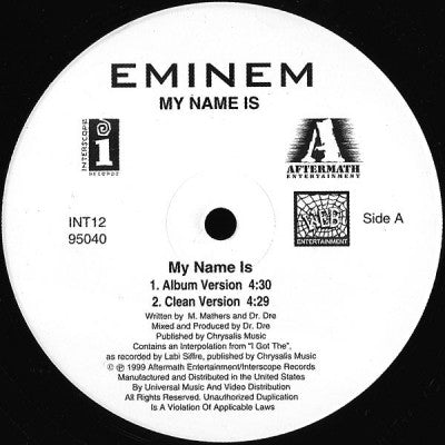 EMINEM - My Name Is