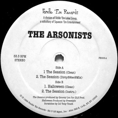THE ARSONISTS - The Session / Halloween