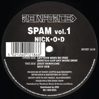 NICK O-D - Spam Vol.1