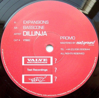 DILLINJA - Expansions / Basscone
