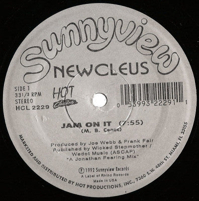 NEWCLEUS / EX'TRA T'S - Jam On It / Ex'Tra T's Boogie (E.T. Boogie)