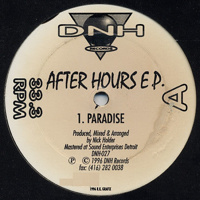 NICK HOLDER - After Hours EP