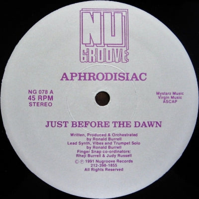 APHRODISIAC - Just Before The Dawn / Your Love