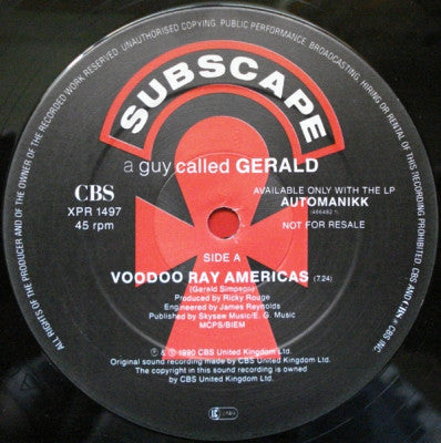 A GUY CALLED GERALD - Voodoo Ray Americas / Moroccan Black