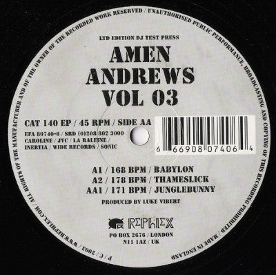 LUKE VIBERT - Amen Andrews Vol: 03
