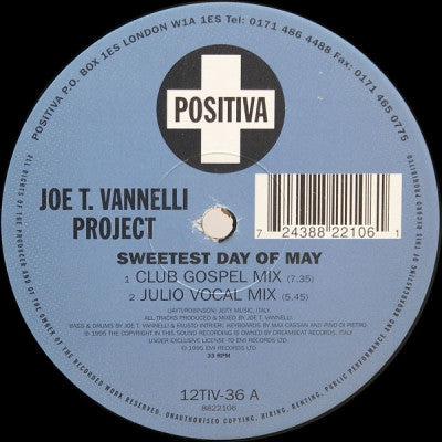 JOE T VANELLI  - Sweetest Day Of May