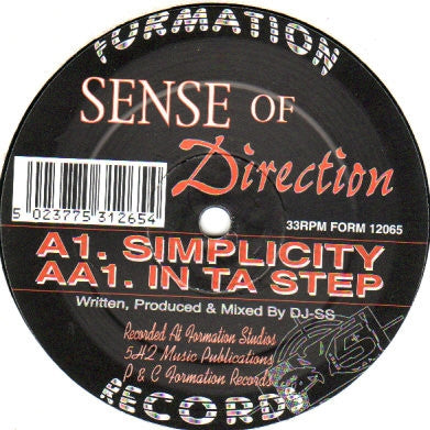 SENSE OF DIRECTION - Simplicity/In Ta Step