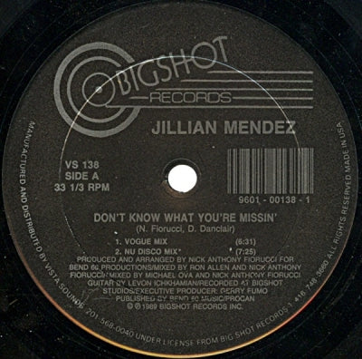 JILLIAN MENDEZ - Don't Know What You're Missin'