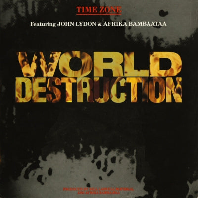 TIME ZONE FEAT JOHN LYNDON & AFRIKA BAMBAATAA - World Destruction