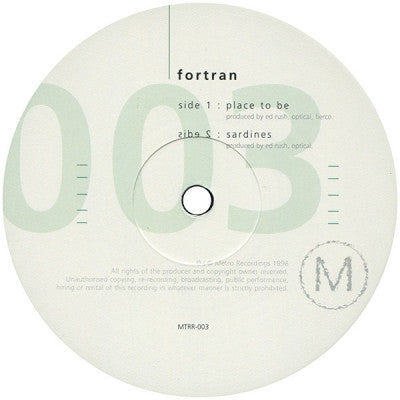 FORTRAN - Place To Be / Sardines