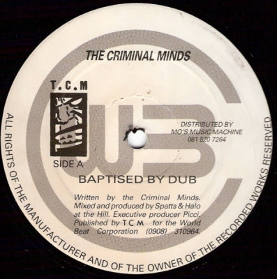 THE CRIMINAL MINDS - Baptised By Dub