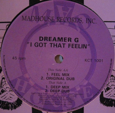 DREAMER G - I Got That Feeling