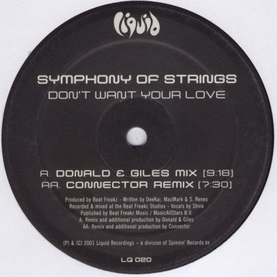 SYMPHONY OF STRINGS - Don't Want Your Love