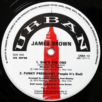 JAMES BROWN - She's The One / Funky Drummer / Funky President