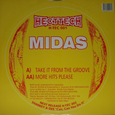 MIDAS - Take It From The Groove / More Hits Please