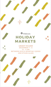 Our next holiday market!