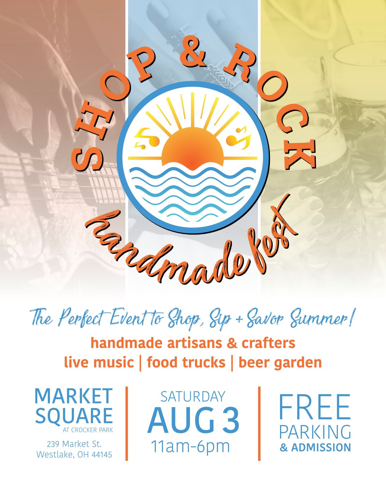 Join us!  Our first event participation - Shop & Rock Handmade Fest