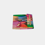 Handmade Paper Notebook - Colorful Fig Leaves