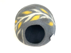 Felted Cat Cave - Grey