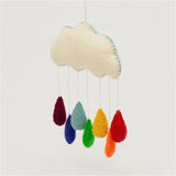 Rainbow Raindrops Nursery Mobile
